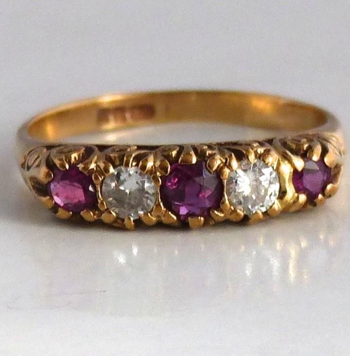 diamanten rij ring