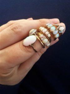 vintage en antieke gouden opaal ringen
